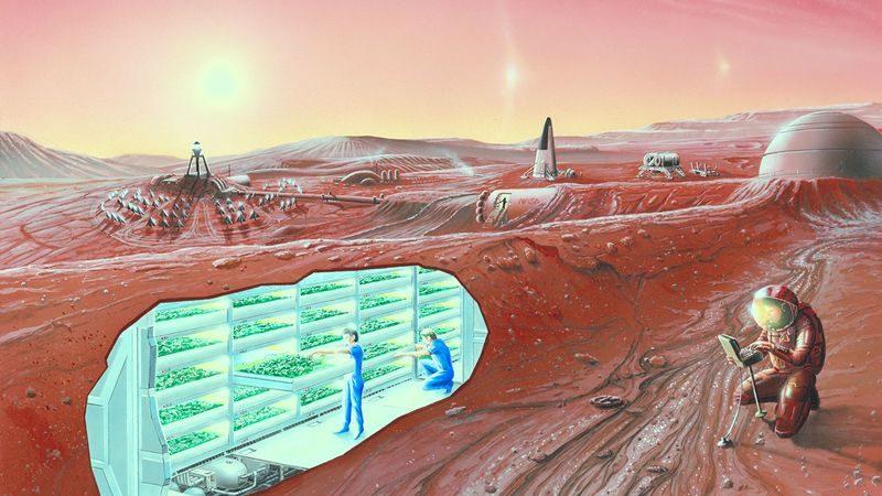 Из подручных средств: марсианский «бетон» предложили делать из крови космонавтов