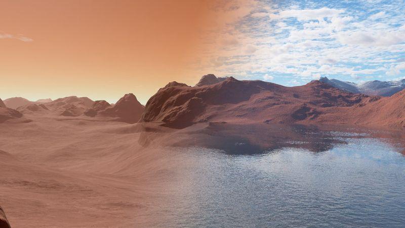 На Марсе найдены следы гигантских наводнений